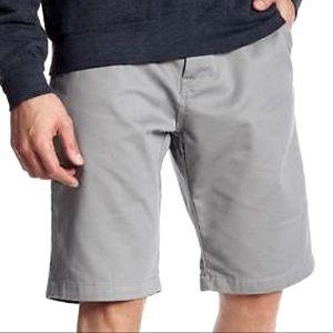 VOLCOM Vmonty Gray Flat Front Chino Shorts